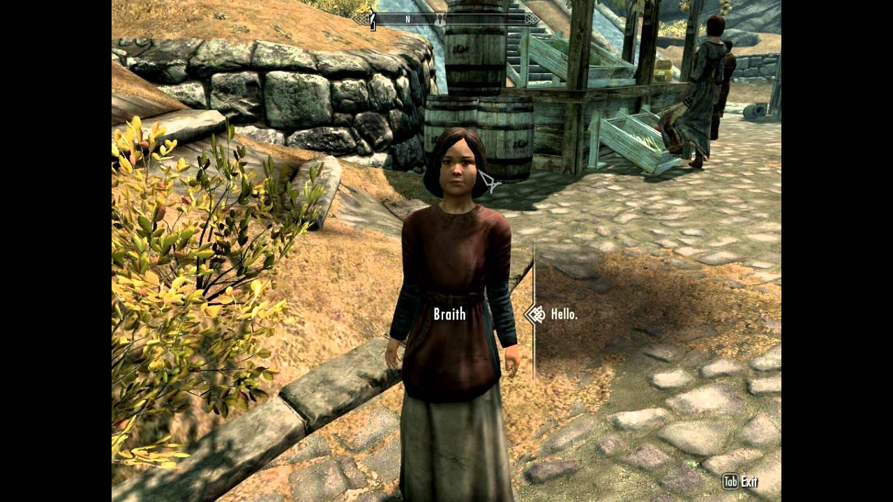 The Elder Scrolls V: Skyrim HD Playthrough Part 40: Braith Vs  Killable  Children Mod