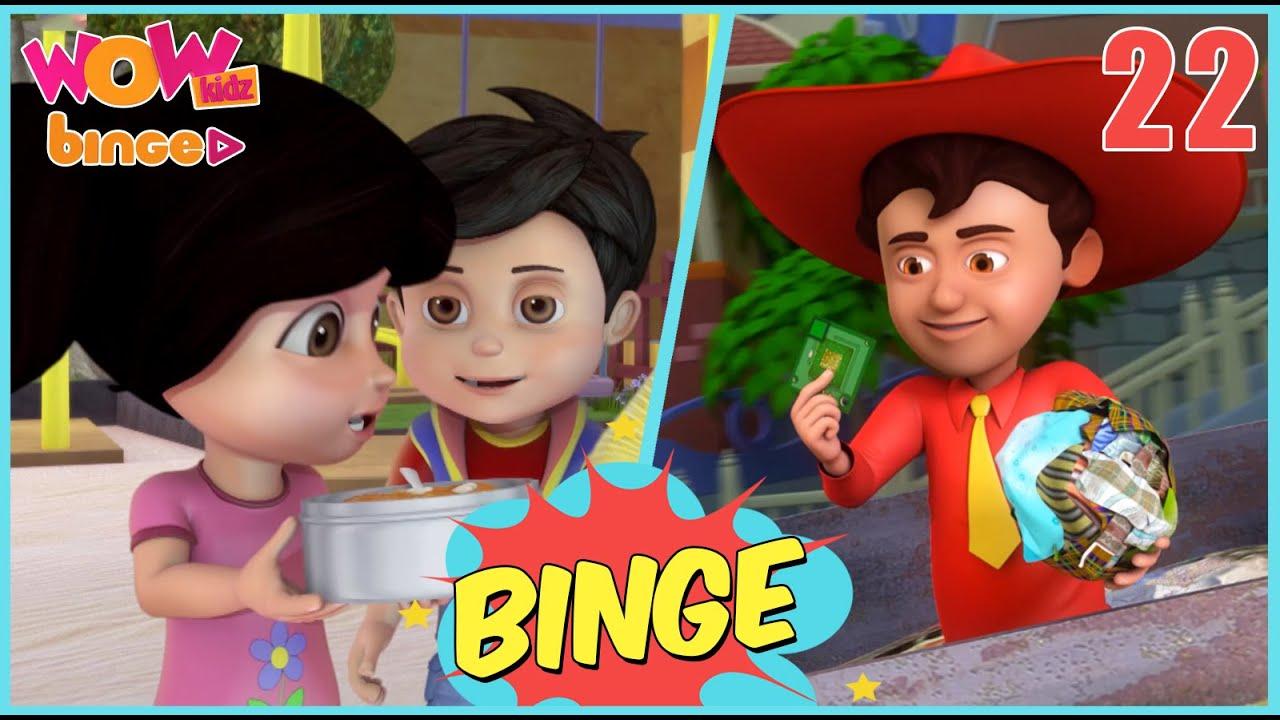 VIR THE ROBOT BOY & CHACHA BHATIJA in 1 video | Compilation 22 | Wow Kidz Binge