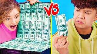 Богатая девушка vs бедный парень / Выходные на 100$ vs выходные на 1000000$!