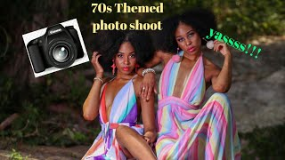 70s Themed photo shoot with Twins ( The Ara's Twins Models)