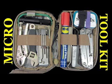 MICRO Pocket Tool Kit: 100 Items for Car/Truck/Bike/Bag/Kitchen Drawer etc.!