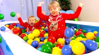 """The Ball Pit Show for learning colors #3 """"Winterland"""" -- children's educational video"""
