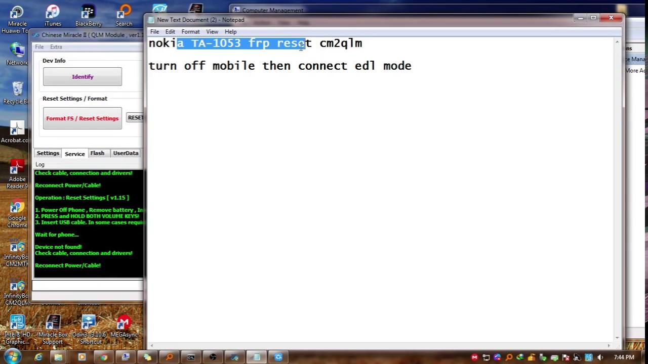 Nokia TA 1053 FRP Reset Remove Google Account CM2 QLM : LightTube