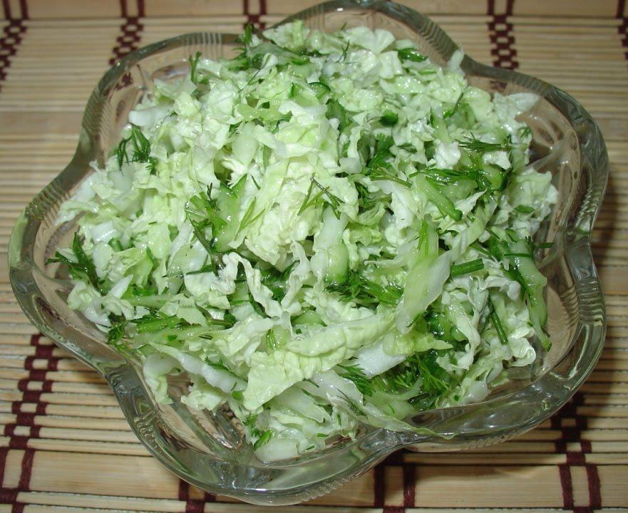 Салат из капусты белокочанной свежей капусты