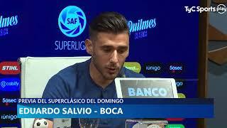 Conferencia de Juanfer Quintero y Toto Salvio - River vs Boca Superliga
