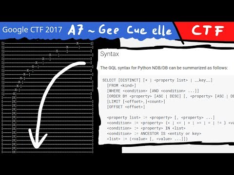 Blind GQL injection and optimised binary search - A7 ~ Gee cue elle (misc) Google CTF 2017