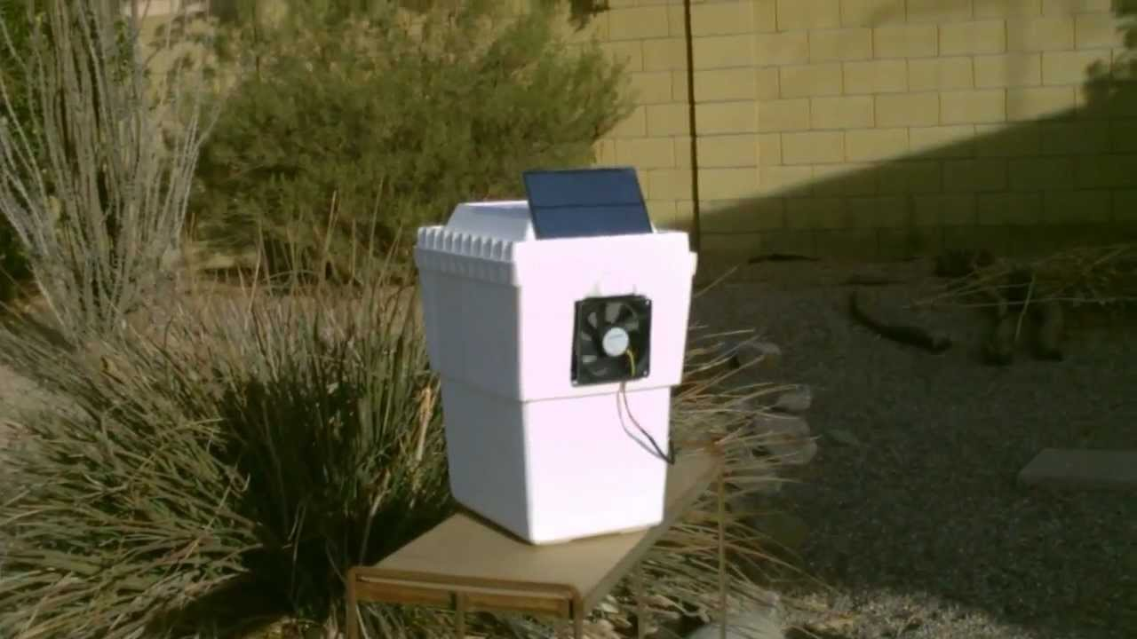 Homemade Air Conditioner Solar Powered Air Cooling 35f