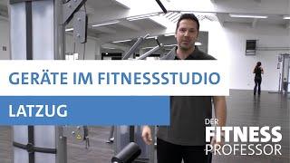 Geräte im Fitnesstudio - Latzug