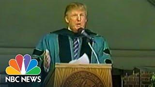Trump In 2004 To Grads: 'Go Over...Go Around' Concrete Wall | NBC News