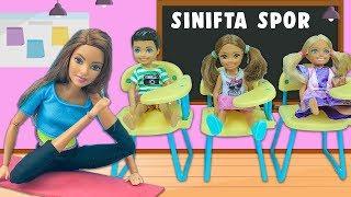 Barbie ve Ailesi Bölüm 192   Sınıfta Spor   Çizgi film tadında evcilik oyunları