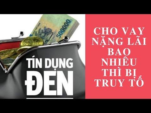 Cho Vay Nặng Lãi Bao Nhiêu Thì Bị Truy Tố