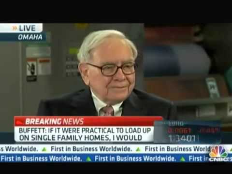 "Warren Buffett: ""I would buy single family homes."""