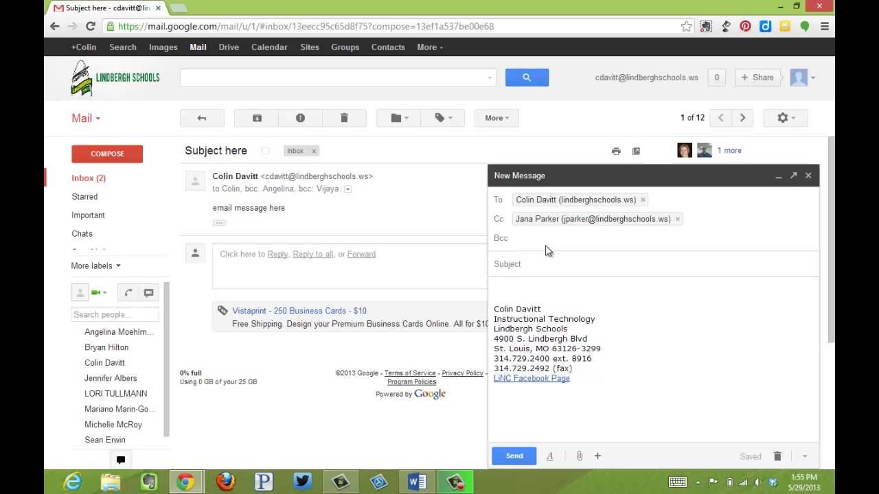 CC and BCC - gmail