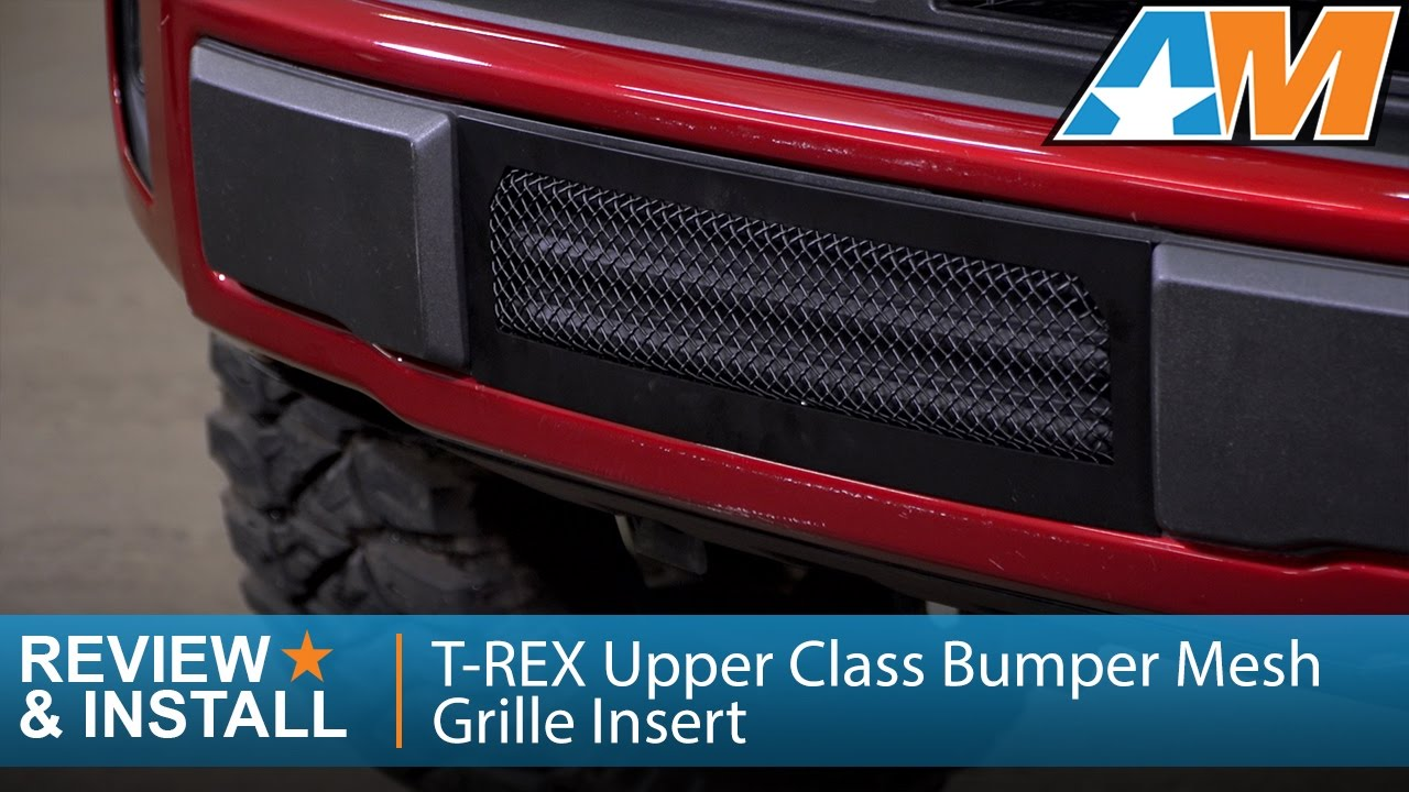 2015 2016 f 150 t rex upper class bumper mesh grille insert black 5 0l ecoboost review install