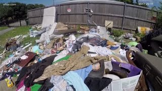 'It looks pitiful' Bishop Arts residents fed up over illegal dumping in their neighboorhoo