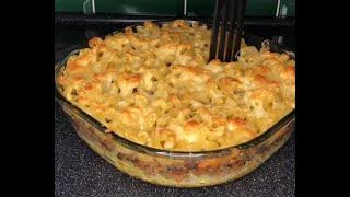Запеканка из макарон с фаршем и сыром в духовке рецепт