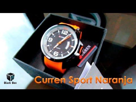 Reloj Curren Sport Naranja - Black Box Trujillo