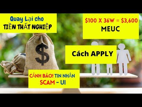 MEUC $100 x 36 = $3,600 I Cách APPLY CA I  Quay lại cho Tiền Thất Nghiệp I SCAM Warning