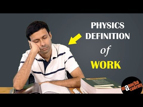 Work and Energy : Definition of Work in Physics