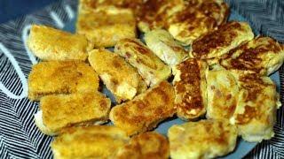 Ленивые пирожки из лаваша с картошкой