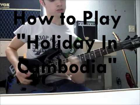 """How to Play """"Holiday In Cambodia"""" by Dead Kennedys (Guitar)"""