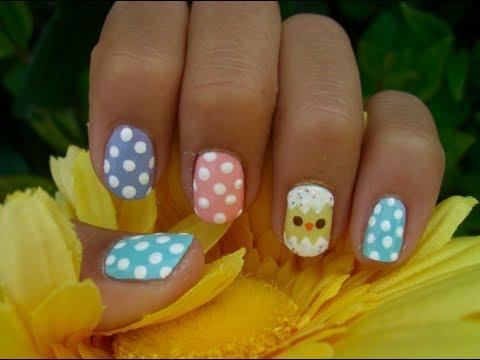 easy easter nail design  youtube