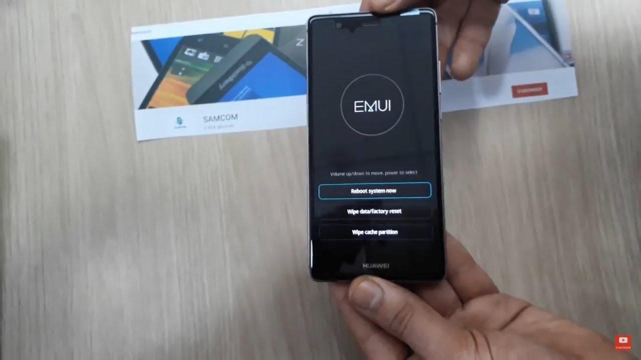 Hard Reset Huawei P9 P9 Formatage Huawei Eva L19 Youtube