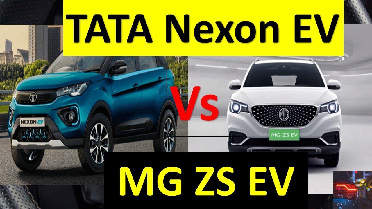 TATA Nexon EV vs MG ZS EV   COMPARISON  The Top Selling Electric Cars in India