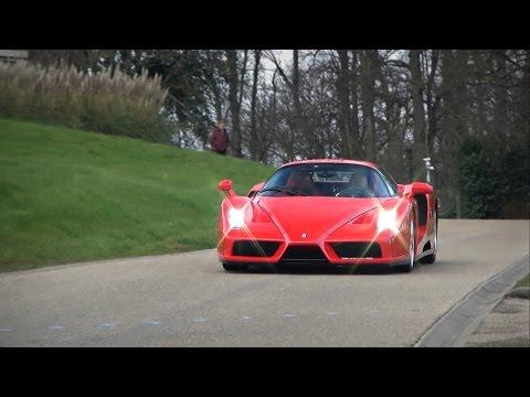 LOUD Ferrari Enzo Huge Revvs And Accelerations!