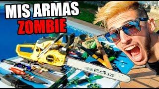 MIS ARMAS REALES QUE USARÍA EN UN APOCALIPSIS ZOMBIE !! Makiman thumbnail