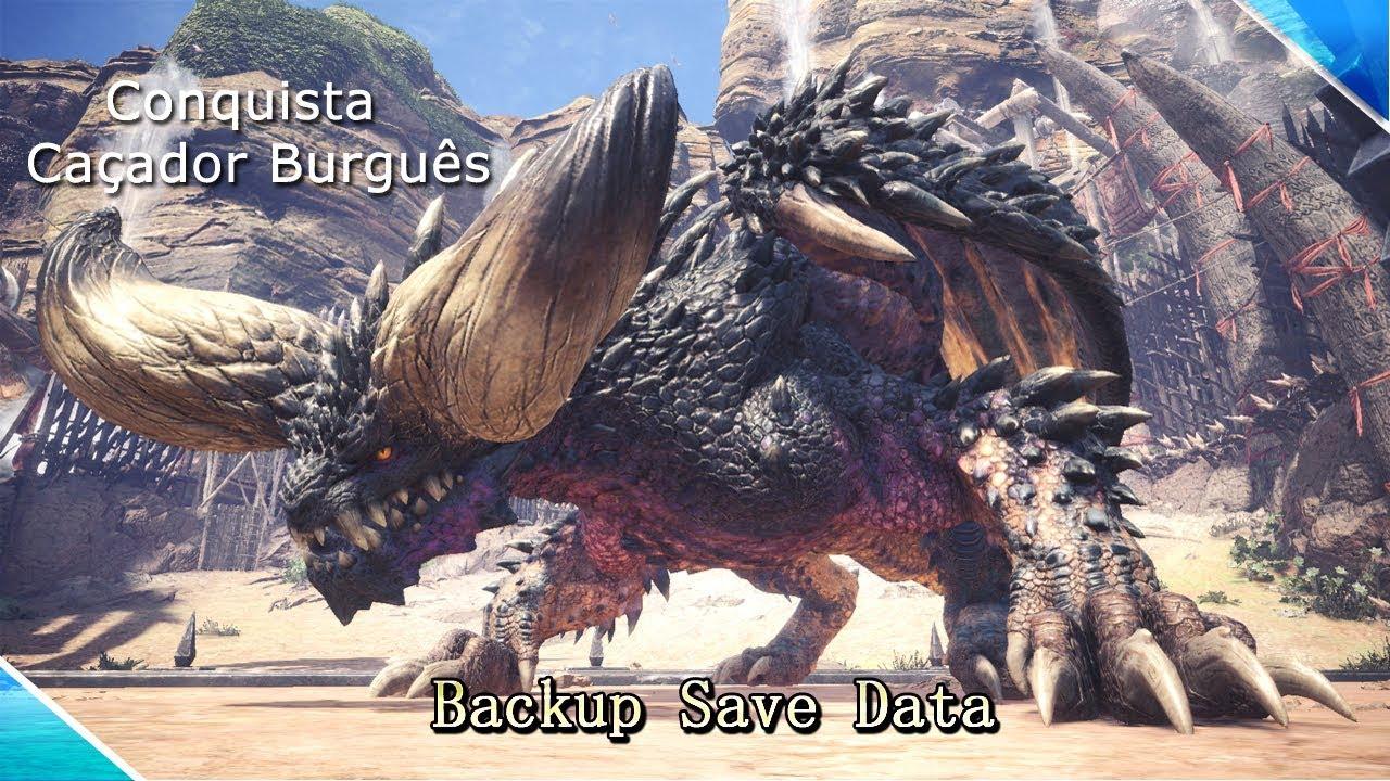 Monster Hunter World PC - Localização pasta SaveData e Conquista Caçador  Burguês