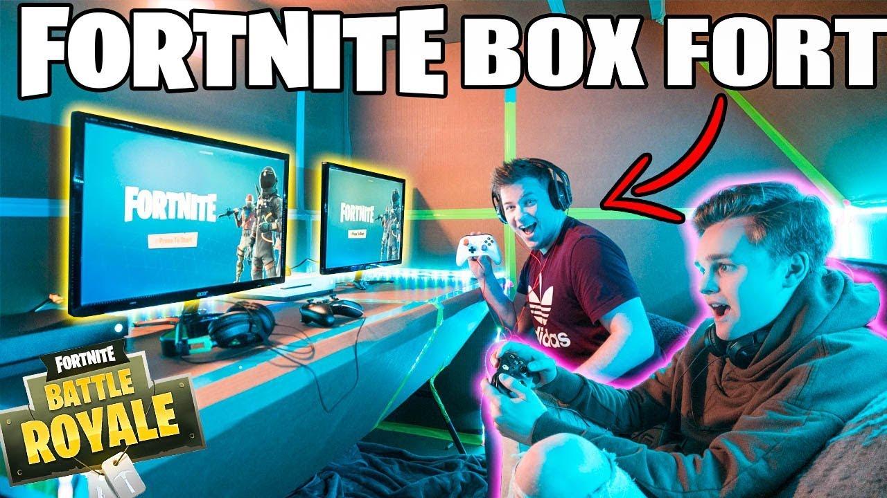 ULTIMATE FORTNITE GAMING BOX FORT ???????? Fortnite, Gameplay & More!