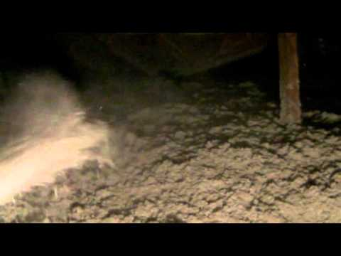 Blowing In Cellulose Insulation To Attic Youtube
