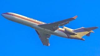 (4K) Classic Plane Spotting at Detroit Willow Run Airport