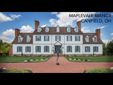 Lakefront Colonial Mansion For Sale in Canfield Ohio [14 Acres]
