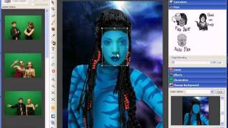Novelty Photo Studio Automatic Face On Body