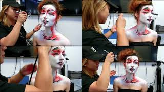 Beaux-Art de Créer à Paris ~le body painting~ Maquillage & Coiffure par KK LEE