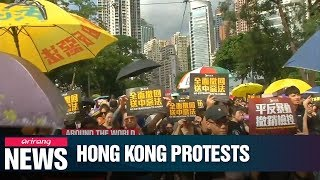 Riot police fire tear gas at Hong Kong protesters on seventh week of mass marches