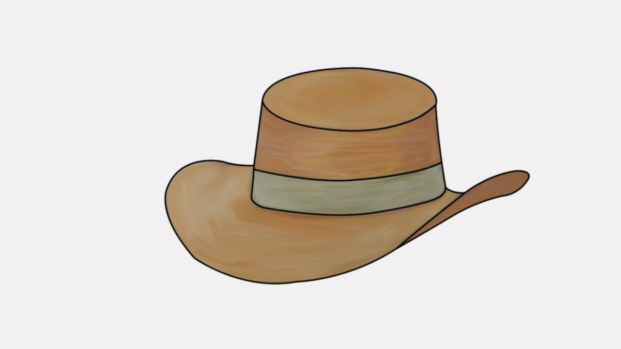 how to draw a cowboy hat | step by step draw a cowboy hat