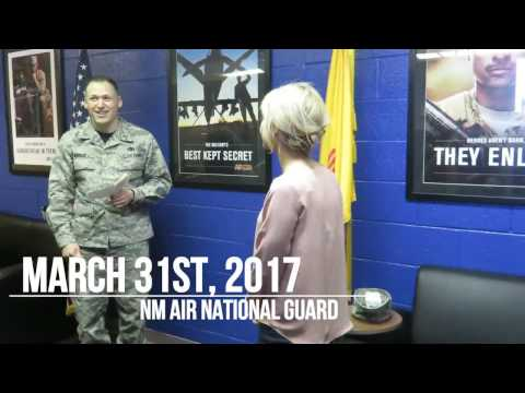 Swearing Into the NM Air National Guard