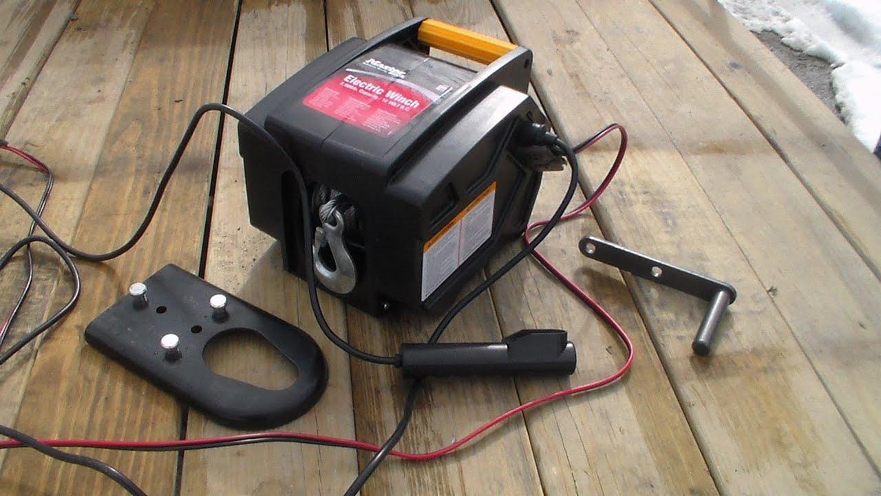 master lock 2953at 12 volt dc portable winch [ 1280 x 720 Pixel ]