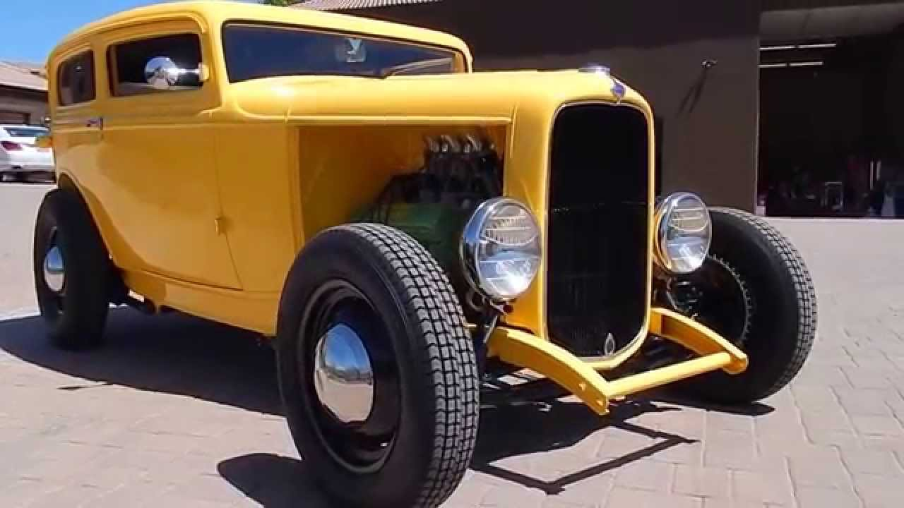 1932 Ford Tudor Hot Rod Sedan Olds Rocket V8 - YouTube
