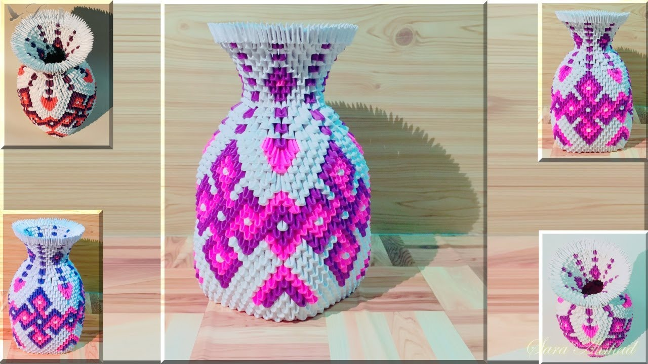 How to make 3d origami vase 41 part 1 youtube how to make 3d origami vase 41 part 1 reviewsmspy