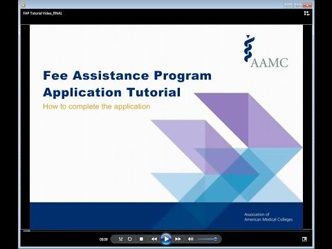 The Fee Assistance Program Application Tutorial