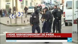 EN DIRECT sur France 24 : Un homme interpellé par la police tente de s'enfuir - PARIS