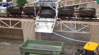 RC Güterzug Freigth Train Coal Kohlebahn Entladung ♦ Modell Hobby Spiel Leipzig 2015 Modellbaumesse