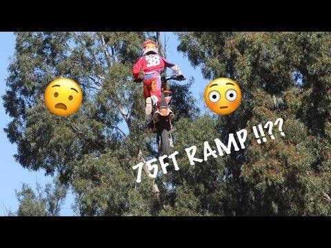 World Record !? Dangerboy Deegan hits the 75ft ramp!!! Dad said no!