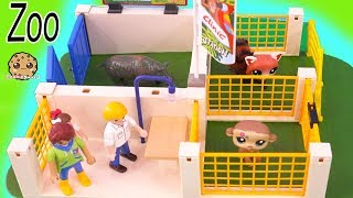 Helping Animals Get Well ! Playmobil Zoo Vet Play Video - Cookie Swirl C