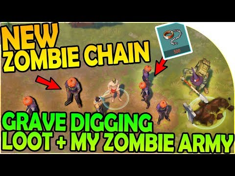NEW ZOMBIE CHAIN ARMY SUMMONING + GRAVE DIGGING LOOT - Last Day On Earth Survival 1.6.5 Update
