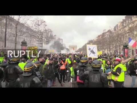 LIVE: Yellow Vest protests continue for 13th straight week in Paris